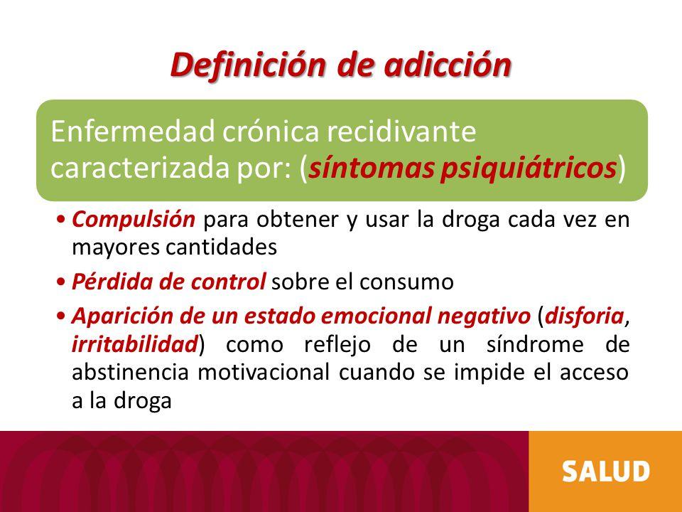 Definición de adicción