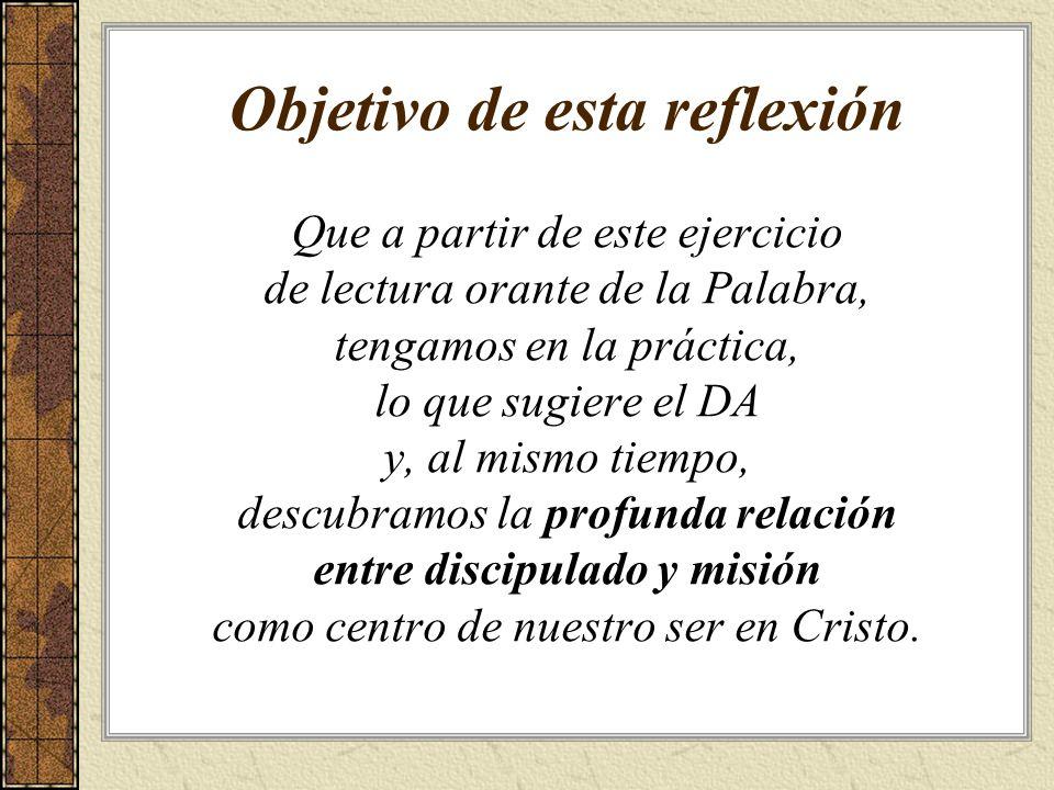 Objetivo de esta reflexión