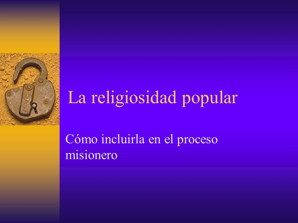 La religiosidad popular