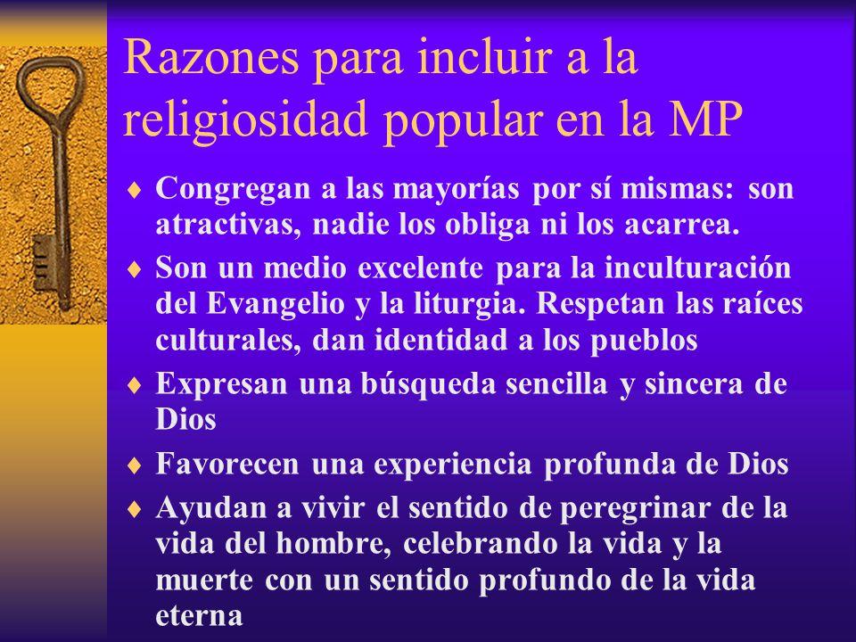 Razones para incluir a la religiosidad popular en la MP