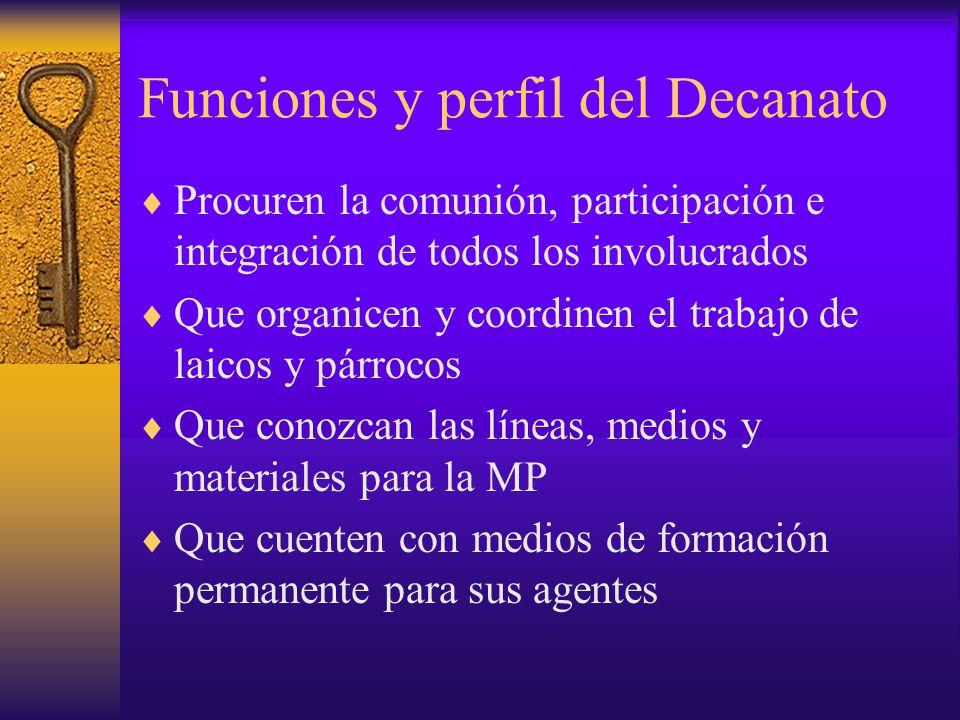 Funciones y perfil del Decanato