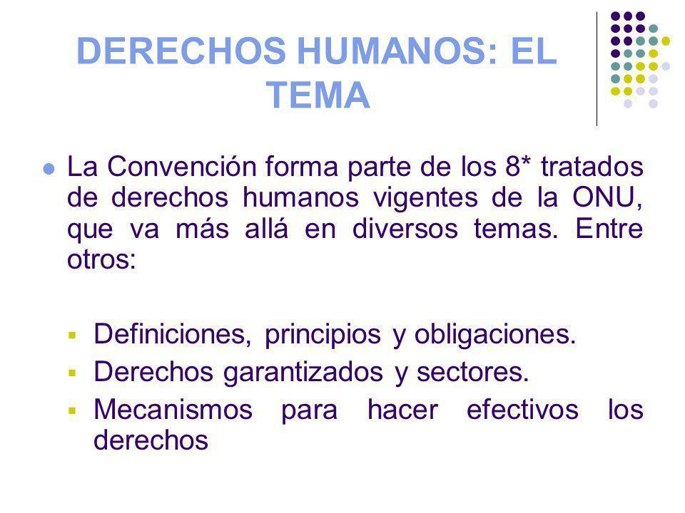 DERECHOS HUMANOS: EL TEMA