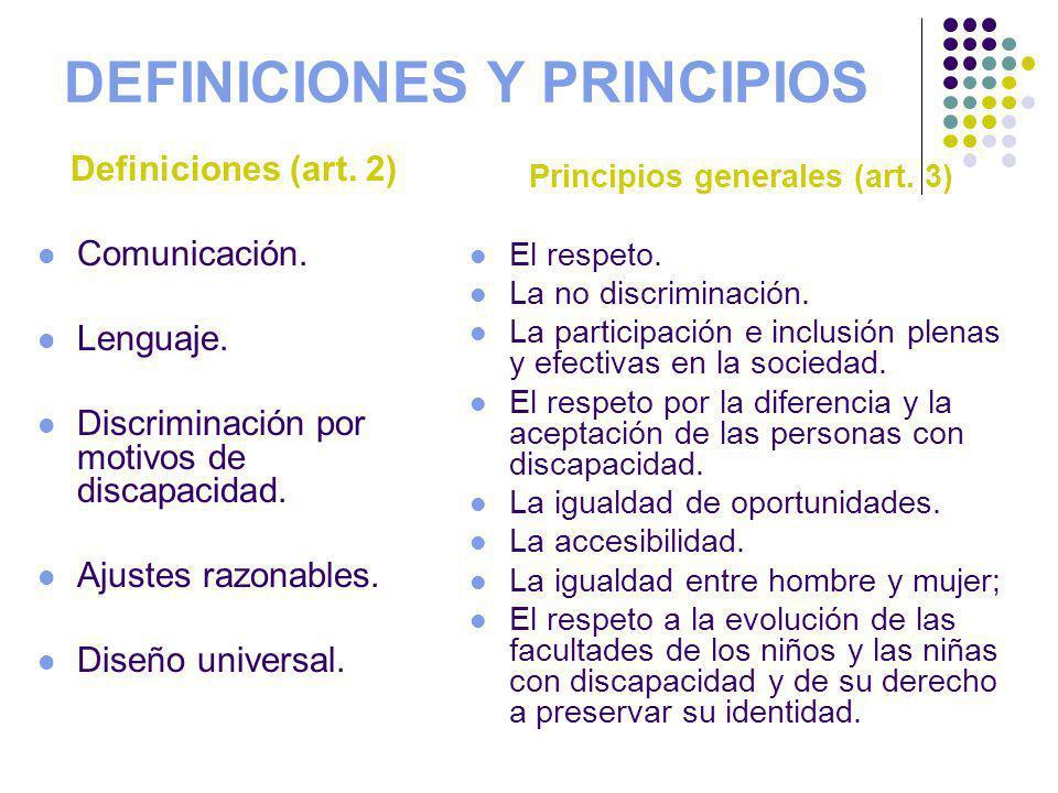 DEFINICIONES Y PRINCIPIOS