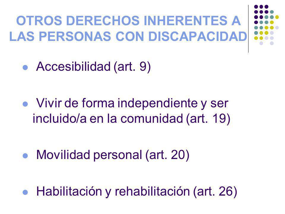 OTROS DERECHOS INHERENTES A LAS PERSONAS CON DISCAPACIDAD