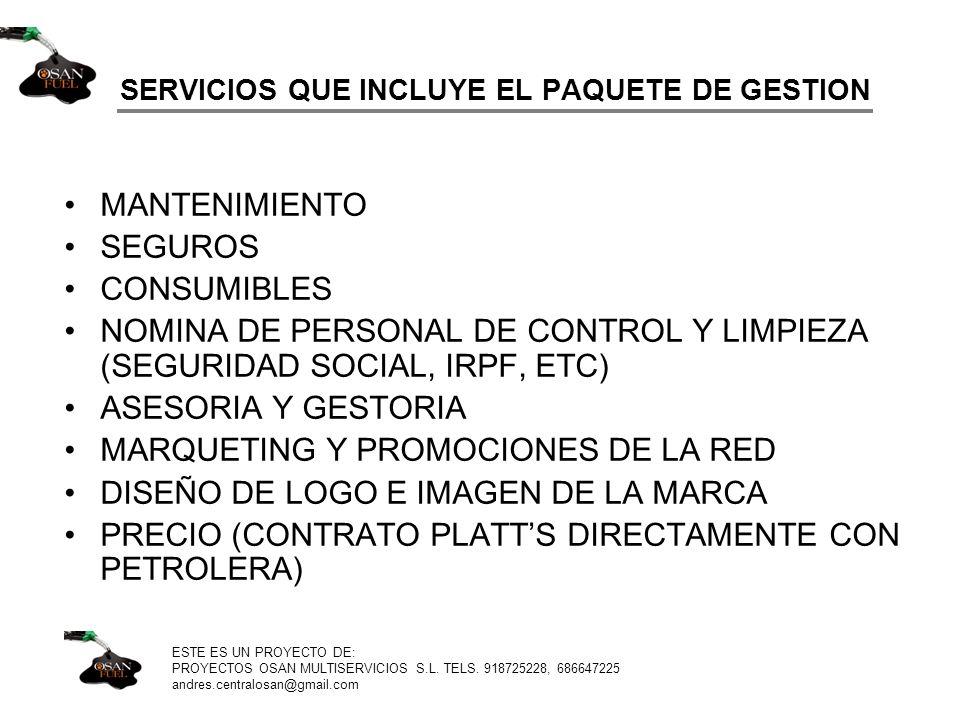SERVICIOS QUE INCLUYE EL PAQUETE DE GESTION