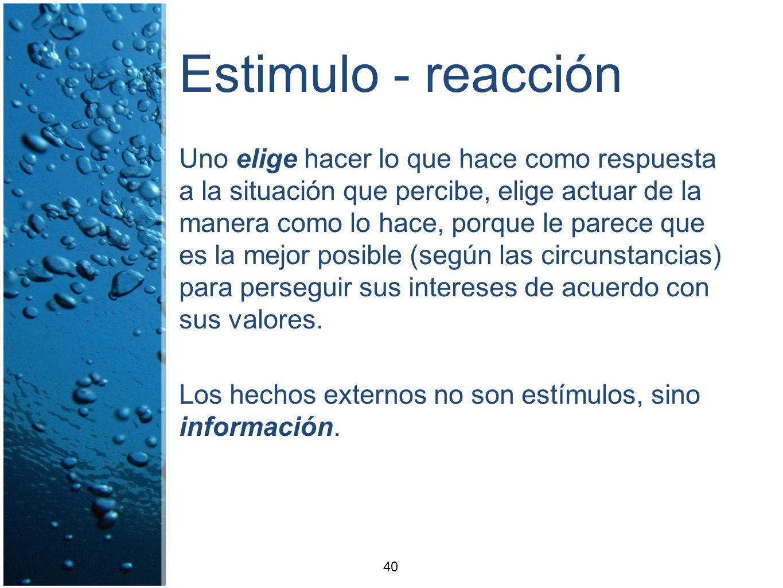 Estimulo - reacción