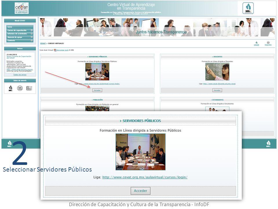 Dirección de Capacitación y Cultura de la Transparencia - InfoDF