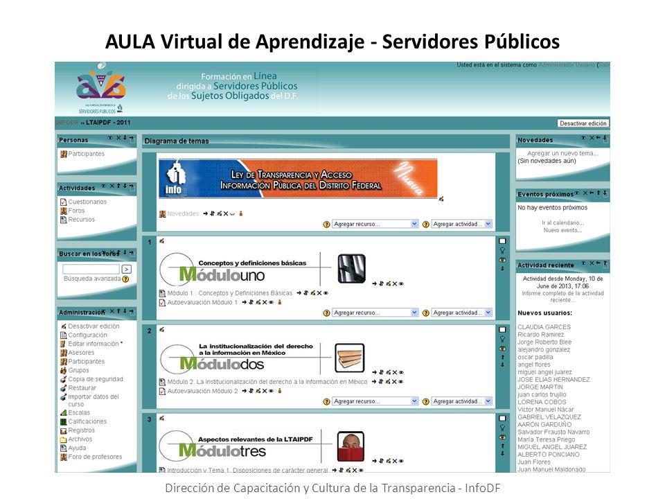 AULA Virtual de Aprendizaje - Servidores Públicos