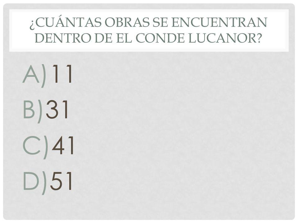 ¿Cuántas obras se encuentran dentro de El Conde Lucanor