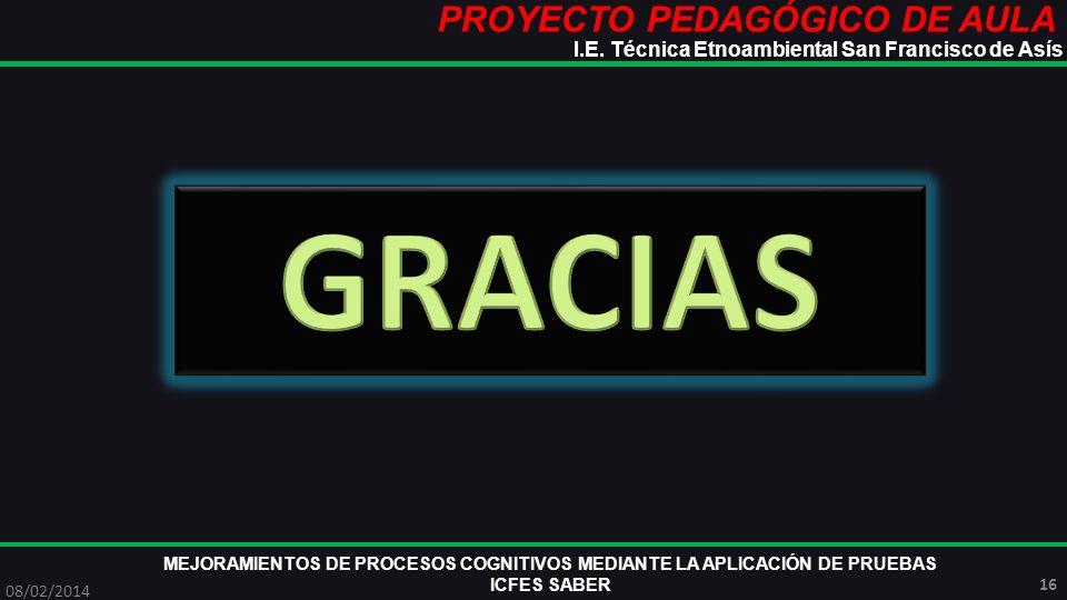 GRACIAS PROYECTO PEDAGÓGICO DE AULA