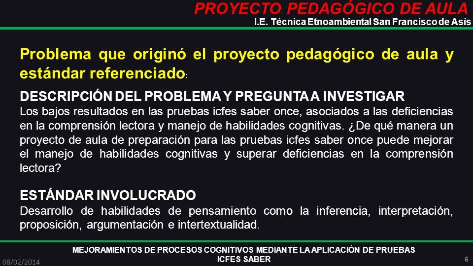 PROYECTO PEDAGÓGICO DE AULA