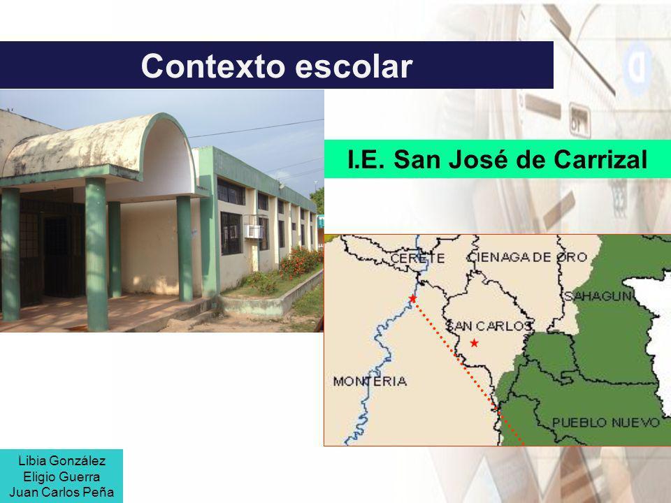 Contexto escolar I.E. San José de Carrizal Libia González