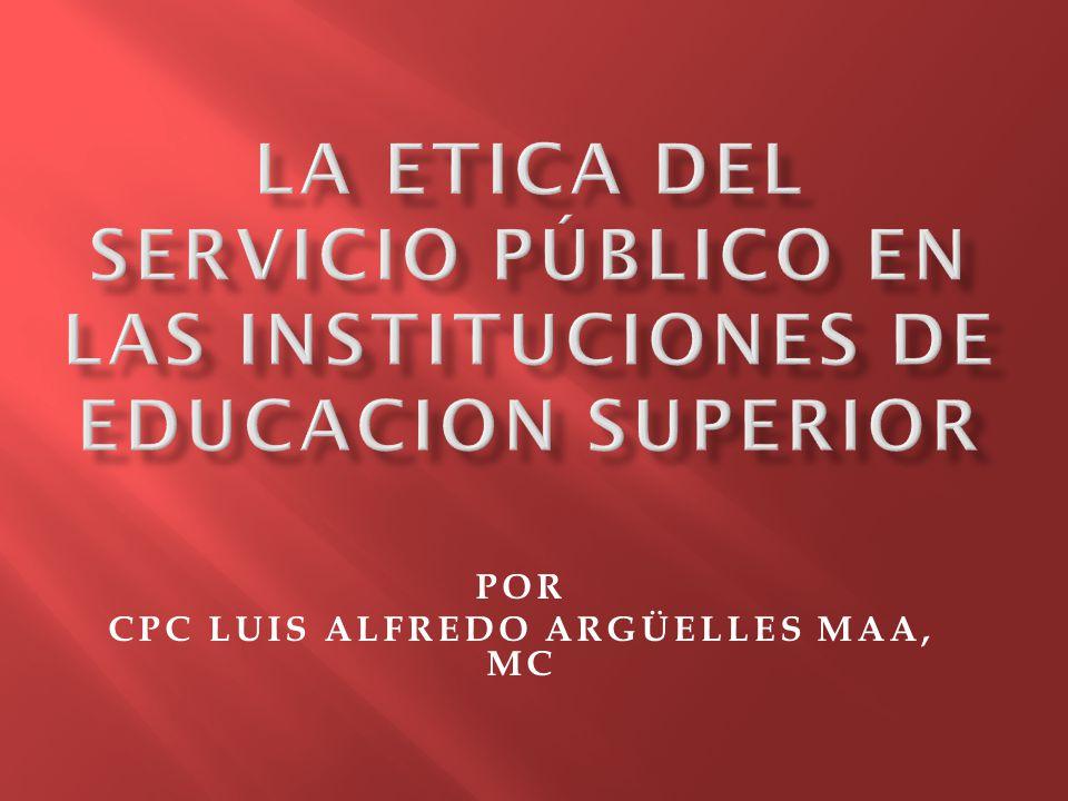 POR CPC LUIS ALFREDO ARGÜELLES MAA, MC