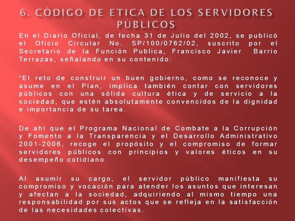 6. Código de Etica de los Servidores Públicos