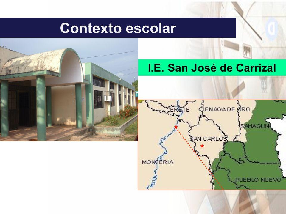 Contexto escolar I.E. San José de Carrizal