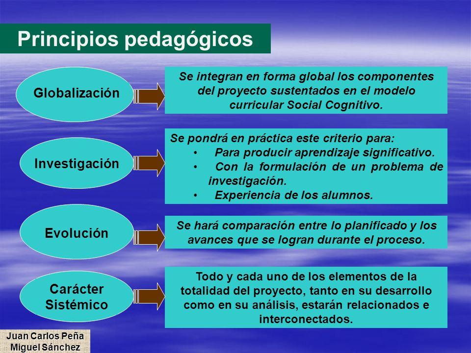 Principios pedagógicos Juan Carlos Peña Miguel Sánchez