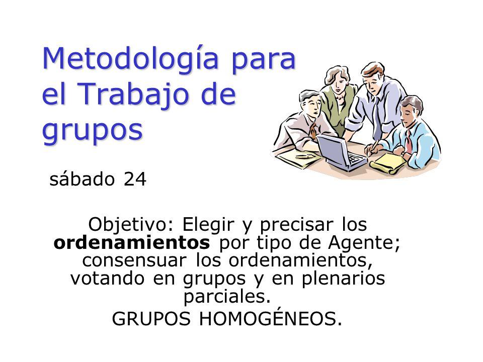 Metodología para el Trabajo de grupos