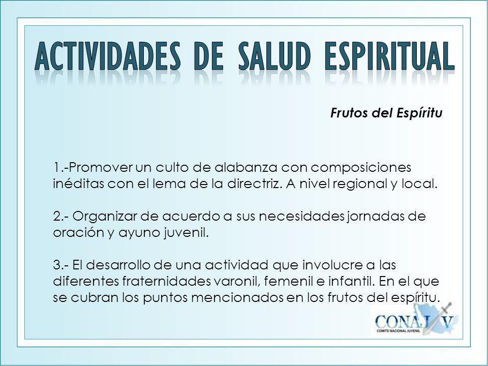 ACTIVIDADES DE SALUD ESPIRITUAL