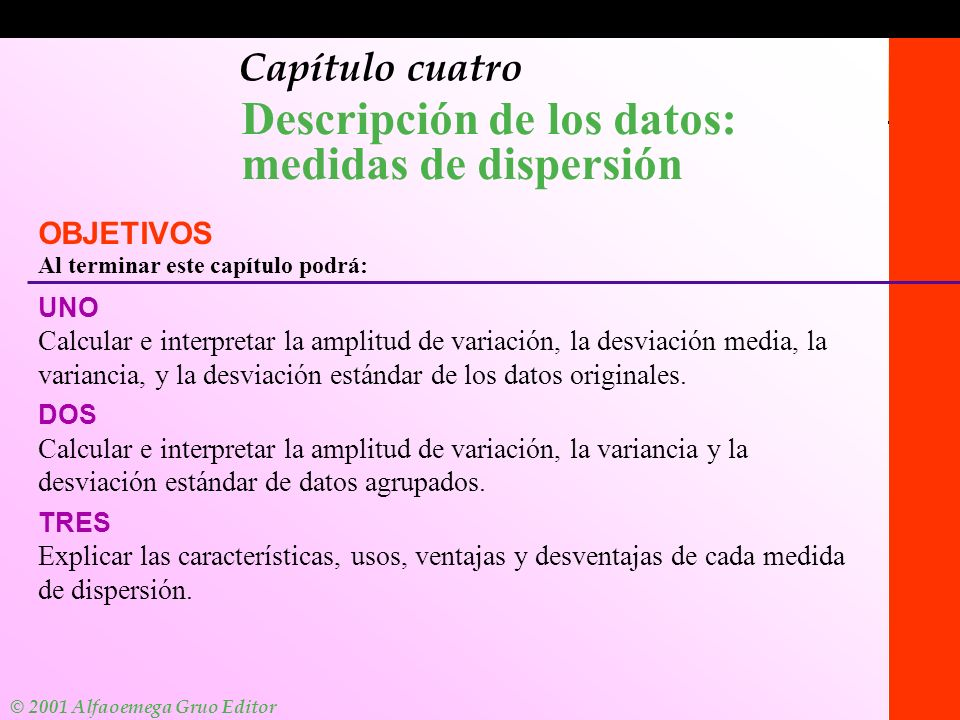 Descripción de los datos: medidas de dispersión