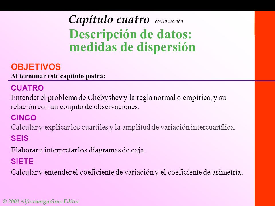 Descripción de datos: medidas de dispersión
