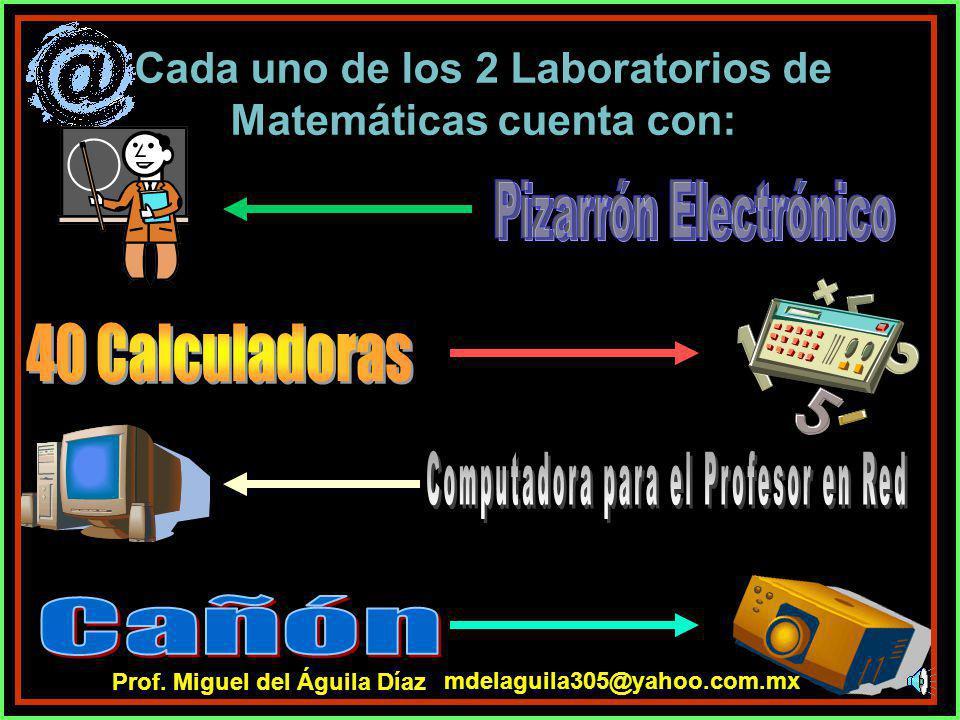 Cada uno de los 2 Laboratorios de Matemáticas cuenta con: