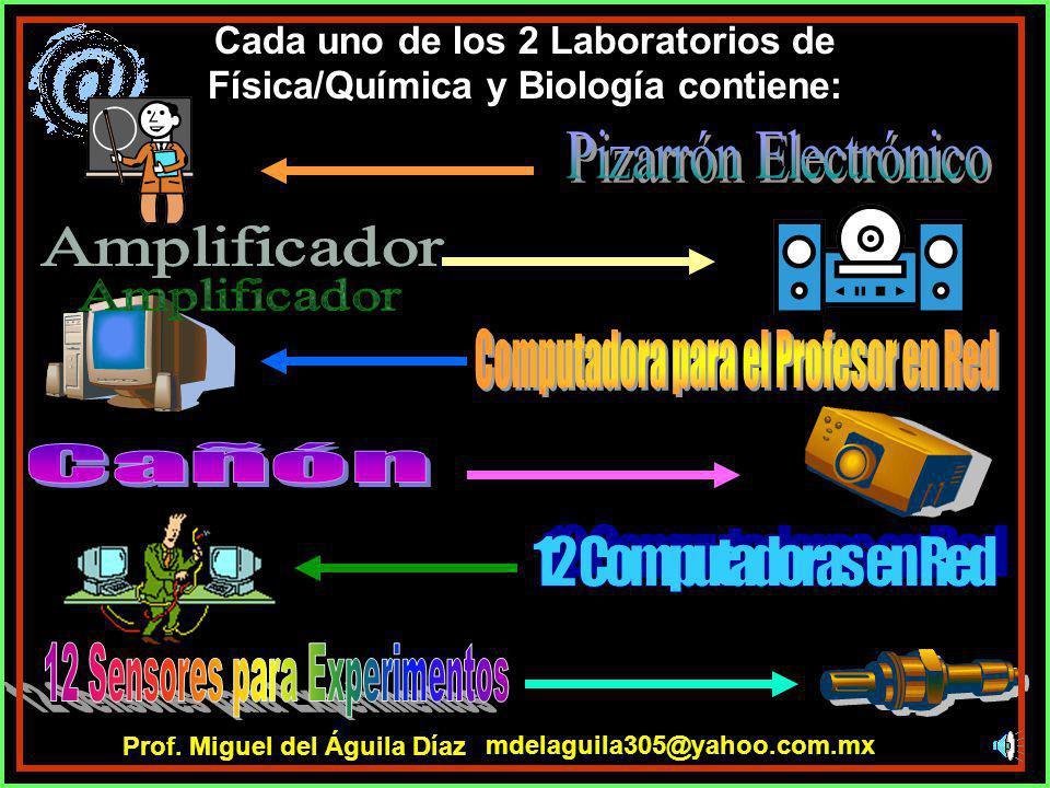 Cada uno de los 2 Laboratorios de Física/Química y Biología contiene: