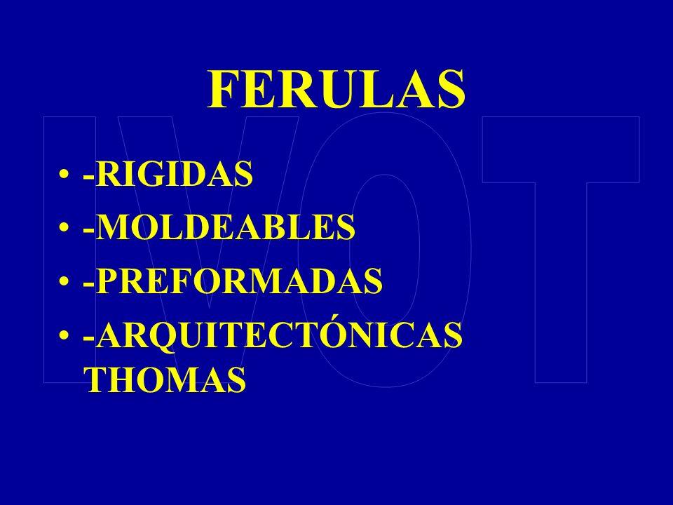 FERULAS IVOT -RIGIDAS -MOLDEABLES -PREFORMADAS -ARQUITECTÓNICAS THOMAS