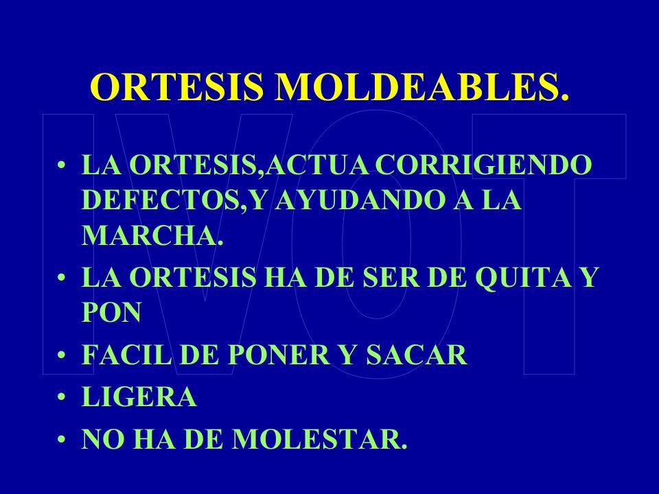 ORTESIS MOLDEABLES. IVOT