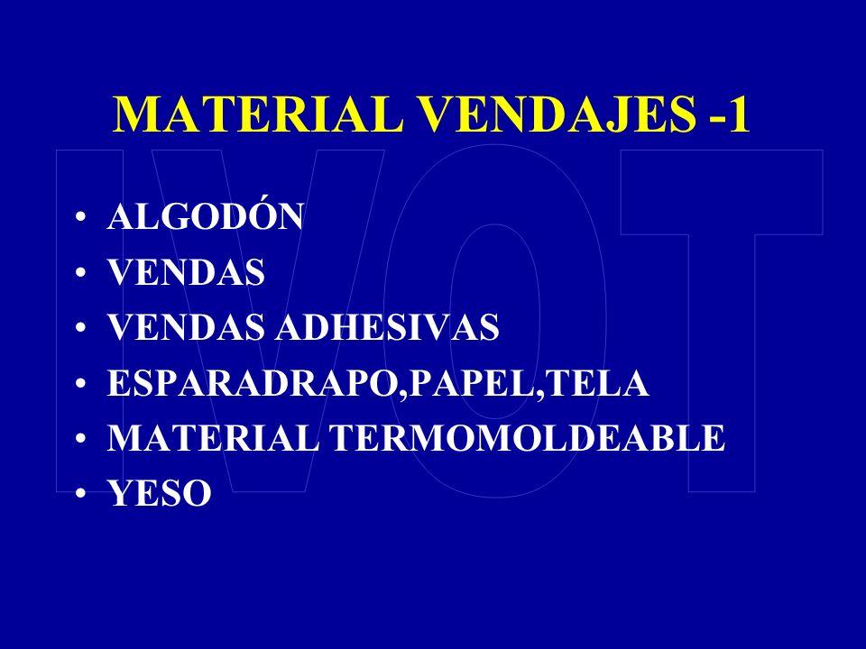 MATERIAL VENDAJES -1 IVOT ALGODÓN VENDAS VENDAS ADHESIVAS