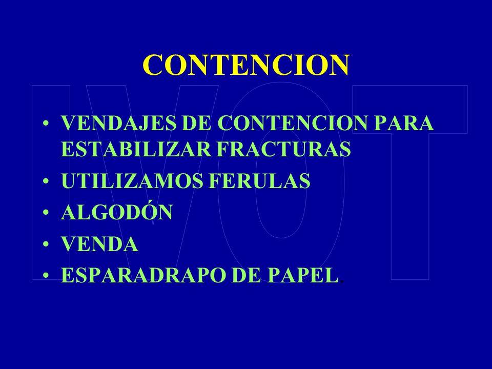CONTENCION IVOT VENDAJES DE CONTENCION PARA ESTABILIZAR FRACTURAS