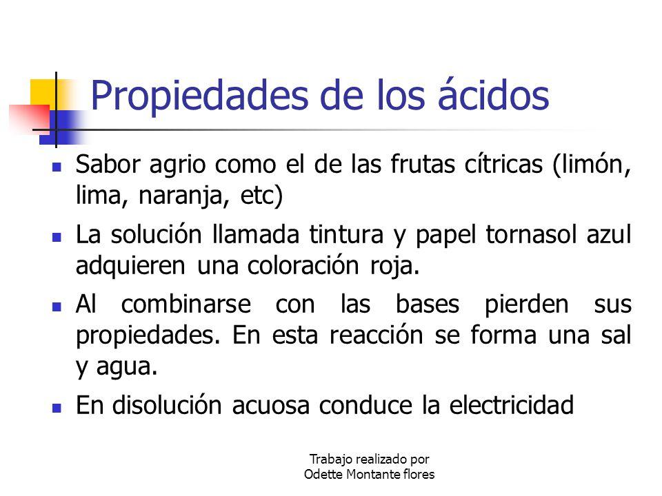 Propiedades de los ácidos