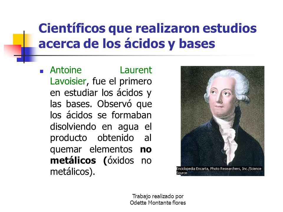Científicos que realizaron estudios acerca de los ácidos y bases