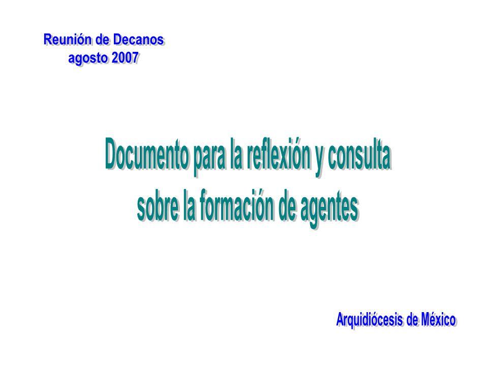 Documento para la reflexión y consulta sobre la formación de agentes