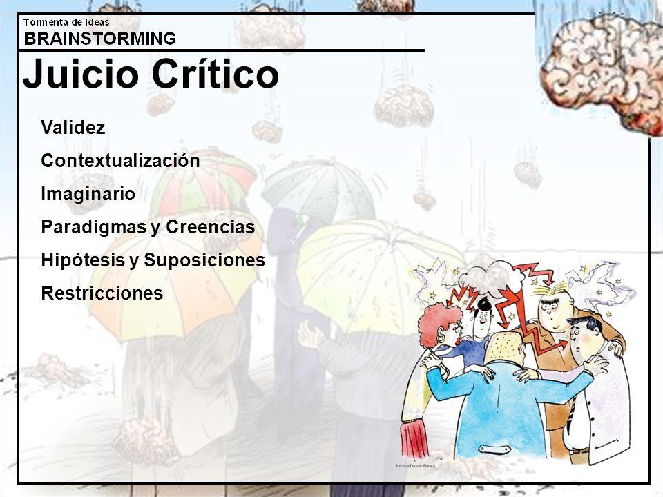 Juicio Crítico Validez Contextualización Imaginario