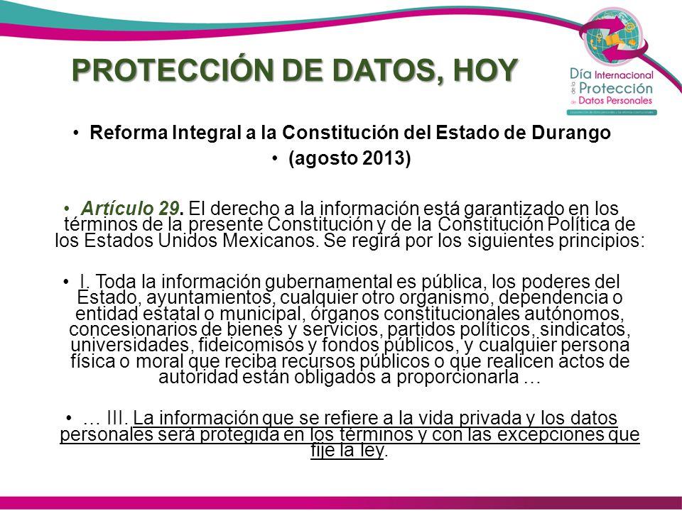 PROTECCIÓN DE DATOS, HOY