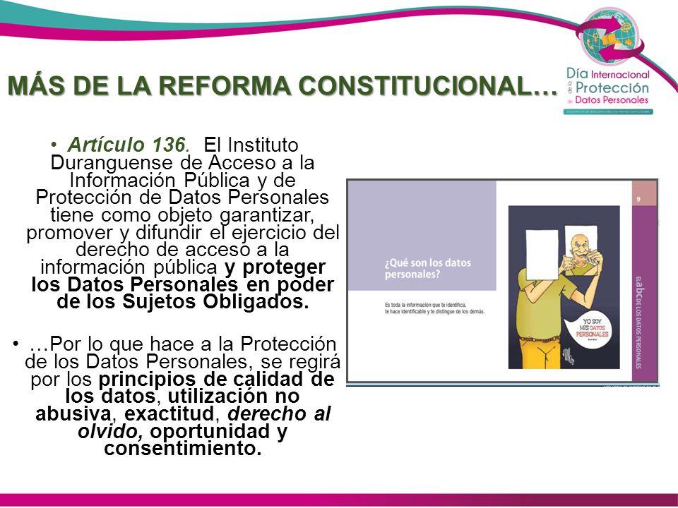 MÁS DE LA REFORMA CONSTITUCIONAL…