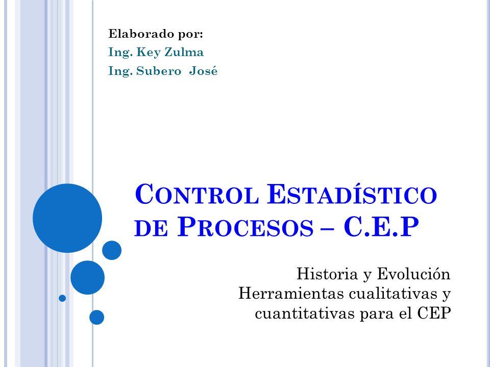 Control Estadístico de Procesos – C.E.P