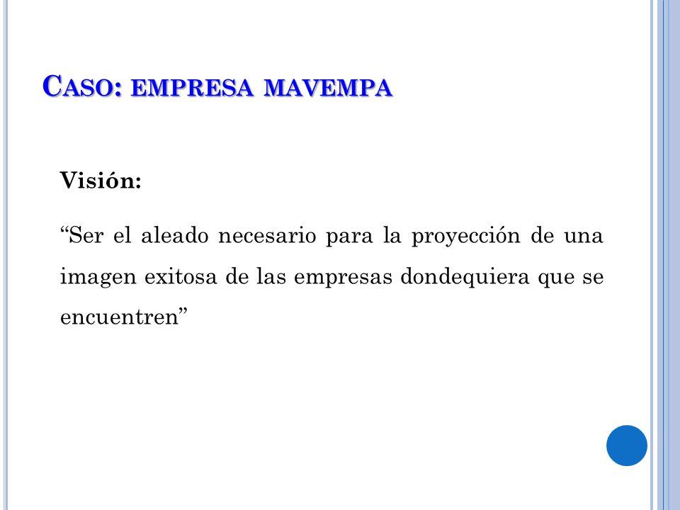 Caso: empresa mavempa Visión: