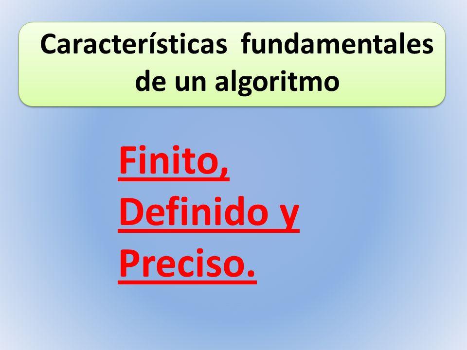 Características fundamentales de un algoritmo
