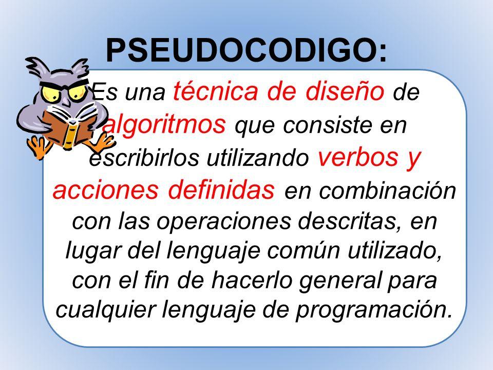 PSEUDOCODIGO:
