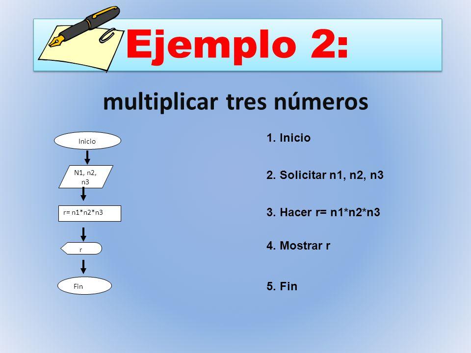 multiplicar tres números