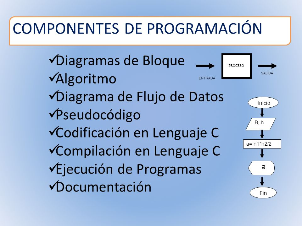 COMPONENTES DE PROGRAMACIÓN
