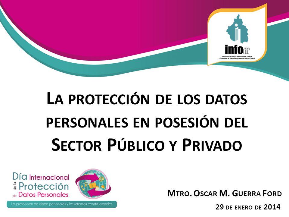La protección de los datos personales en posesión del Sector Público y Privado