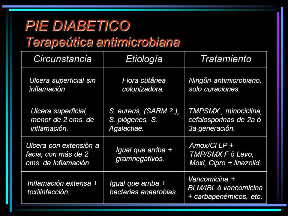 PIE DIABETICO Terapeútica antimicrobiana