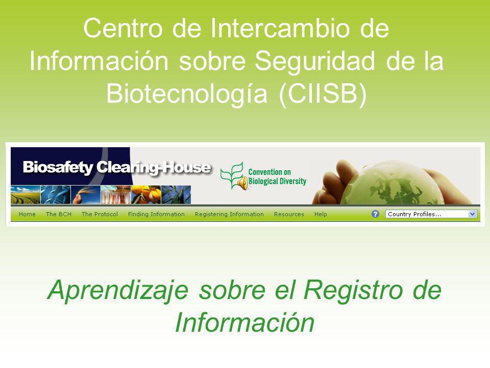 Aprendizaje sobre el Registro de Información