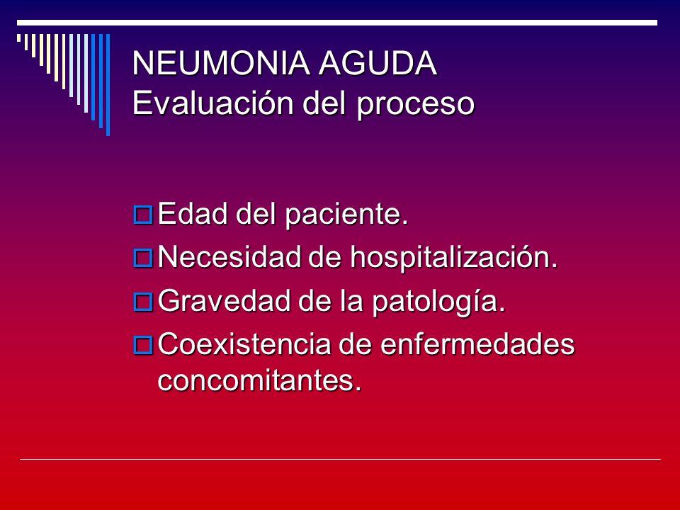 NEUMONIA AGUDA Evaluación del proceso