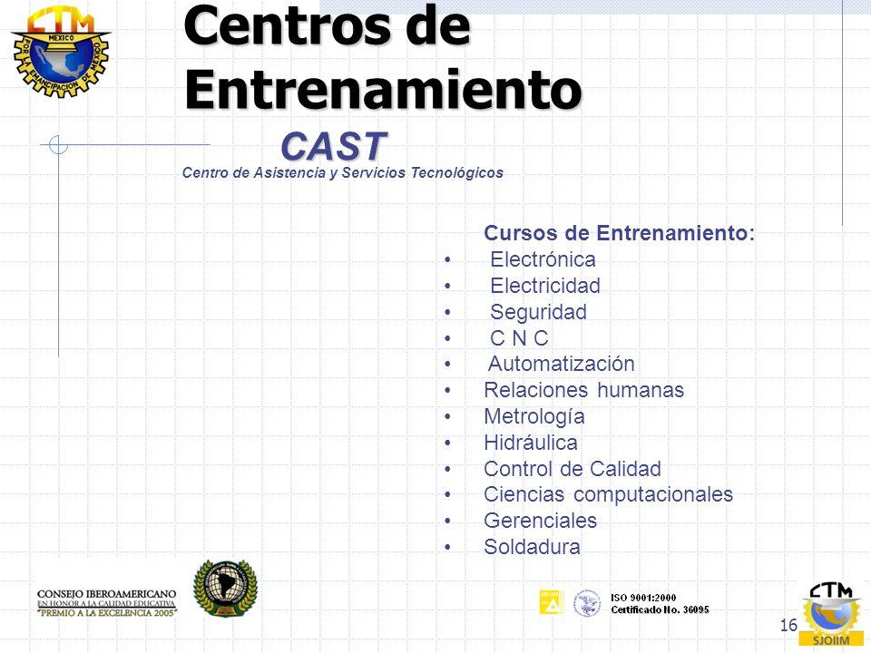 Centros de Entrenamiento