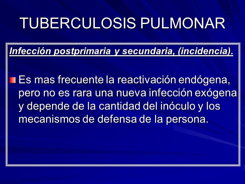 TUBERCULOSIS PULMONAR