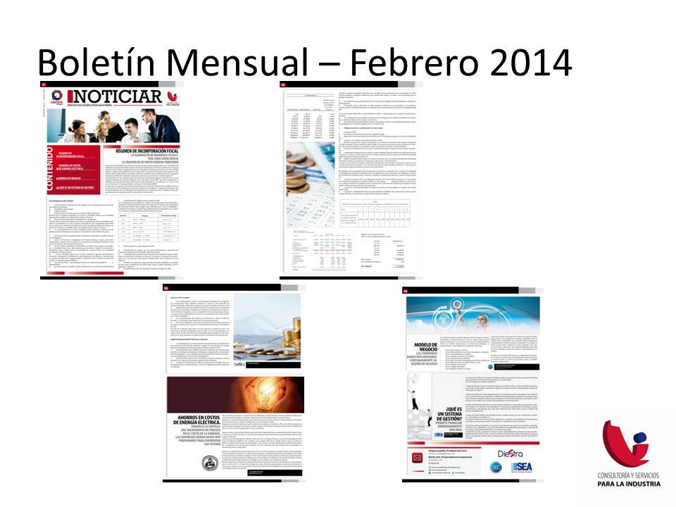 Boletín Mensual – Febrero 2014
