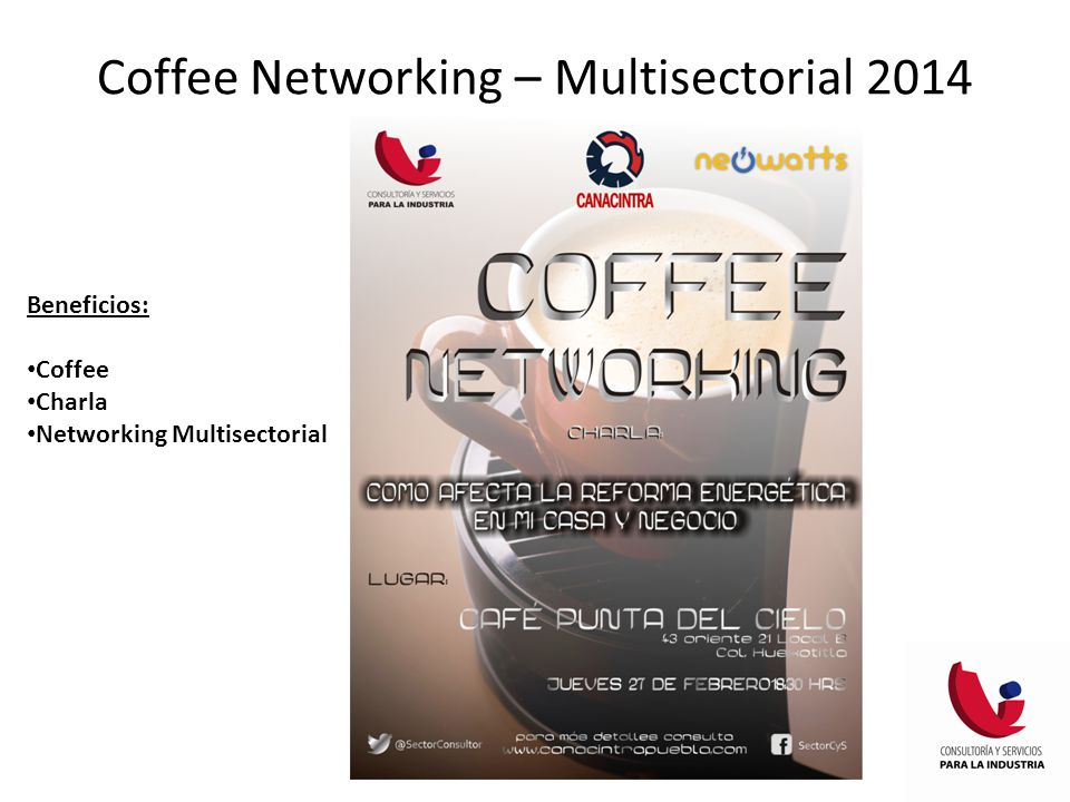 Coffee Networking – Multisectorial 2014